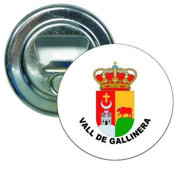 abridor redondo escudo heraldico vall de gallinera