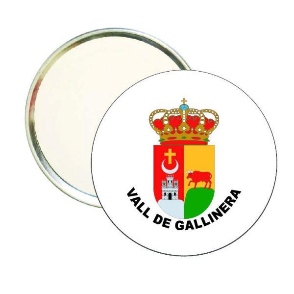 espejo redondo escudo heraldico vall de gallinera