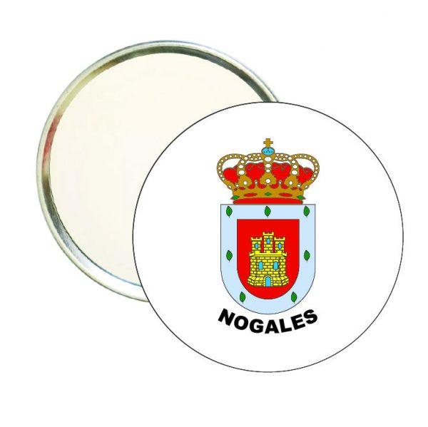 espejo redondo escudo heraldico nogales