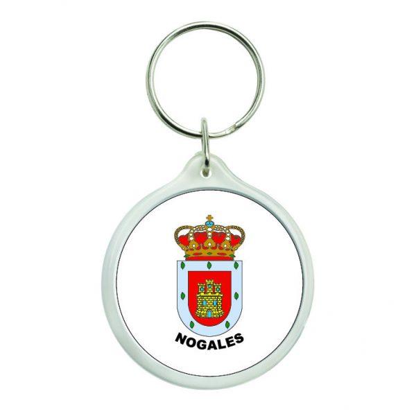 llavero redondo escudo heraldico nogales