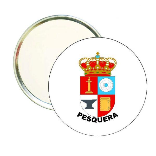 espejo redondo escudo heraldico pesquera