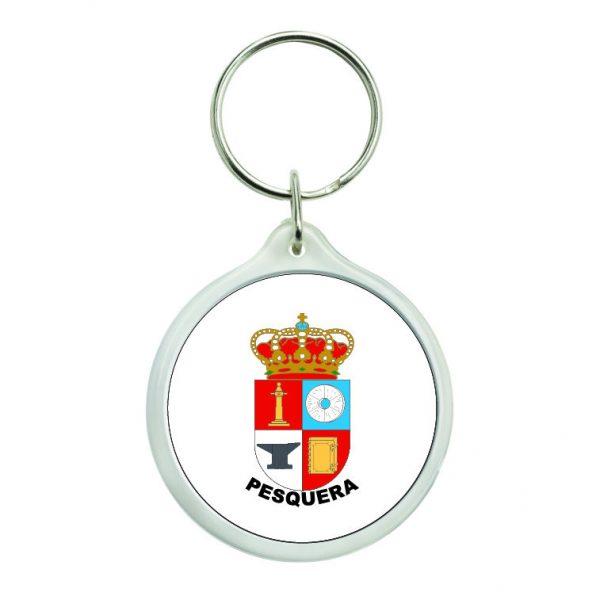 llavero redondo escudo heraldico pesquera