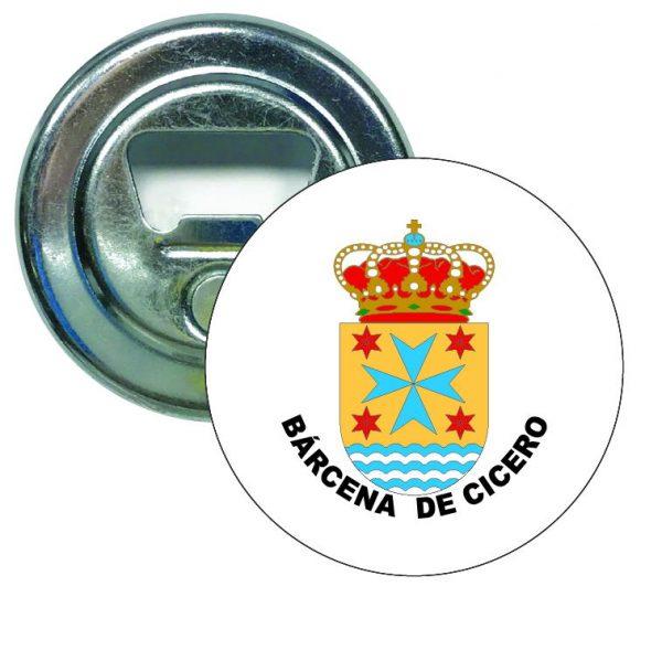 abridor redondo escudo heraldico barcena de cicero
