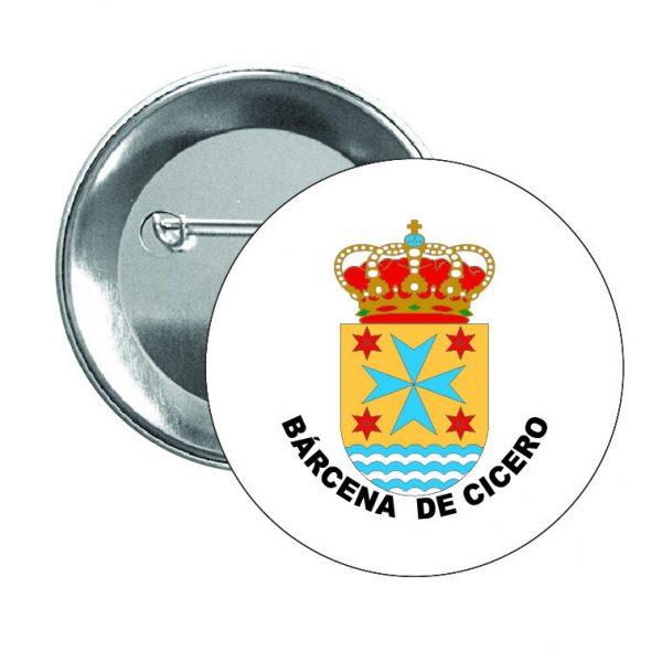 chapa escudo heraldico barcena de cicero