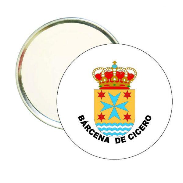espejo redondo escudo heraldico barcena de cicero