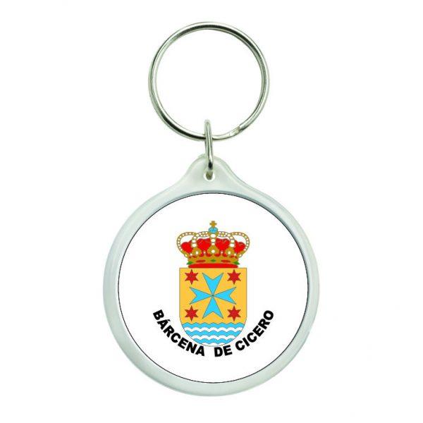 llavero redondo escudo heraldico barcena de cicero