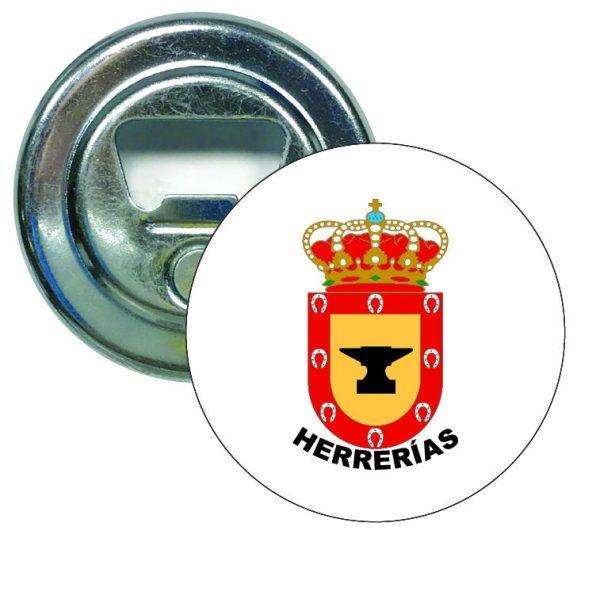 abridor redondo escudo heraldico herrerias
