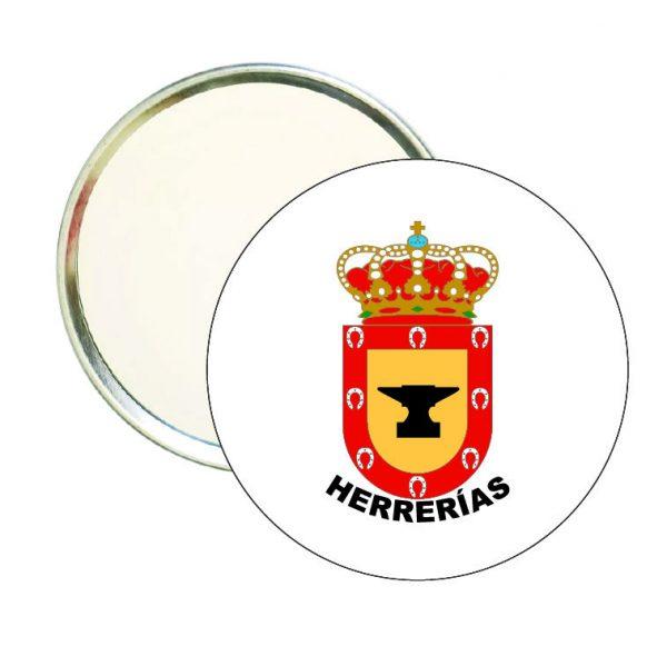 espejo redondo escudo heraldico herrerias