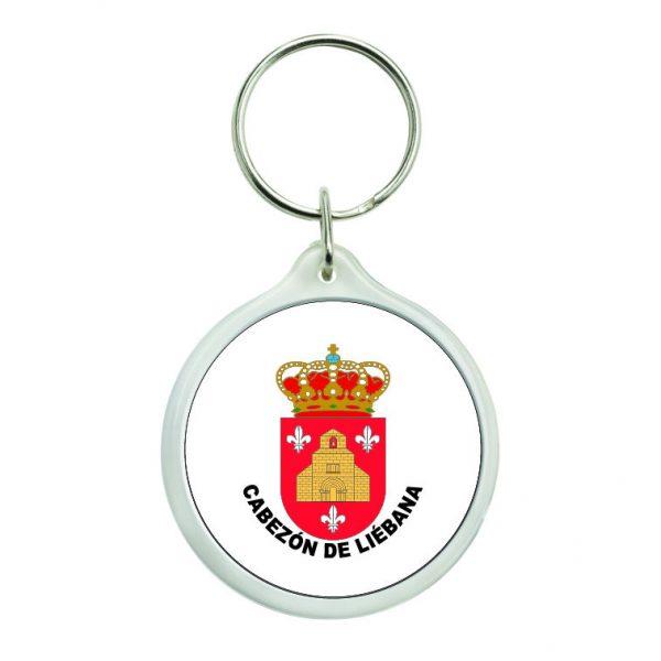 llavero redondo escudo heraldico cabezon de liebana