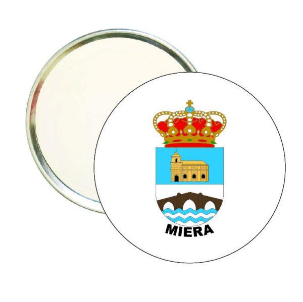 espejo redondo escudo heraldico miera