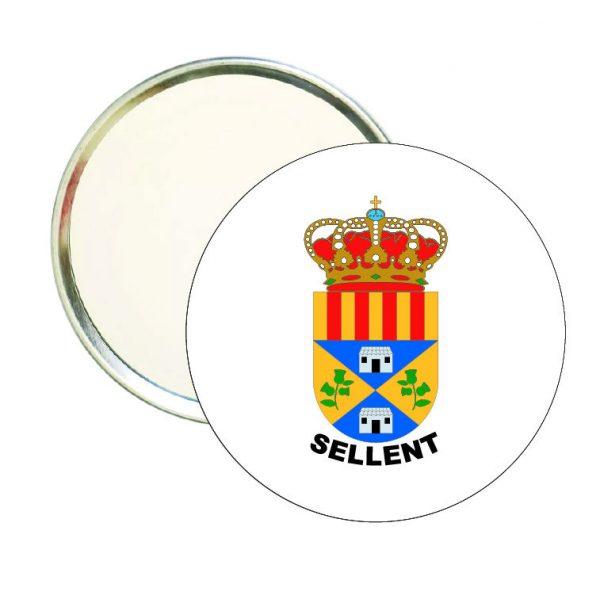 espejo redondo escudo heraldico sellent