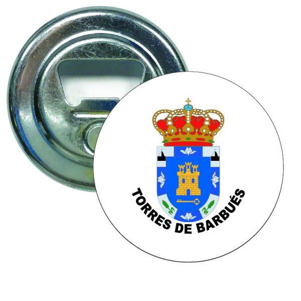 abridor redondo escudo heraldico torres de barbues