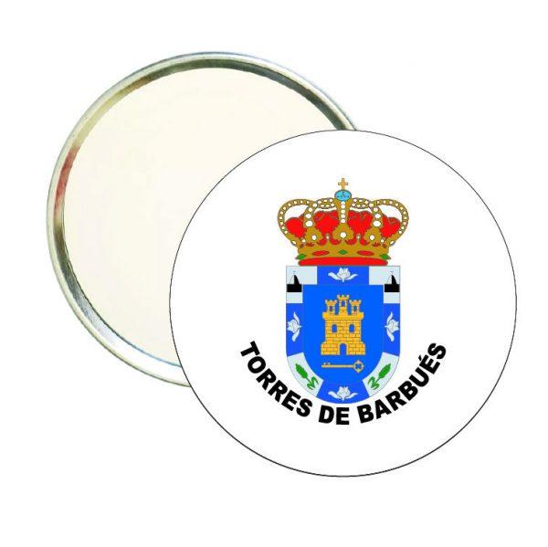 espejo redondo escudo heraldico torres de barbues