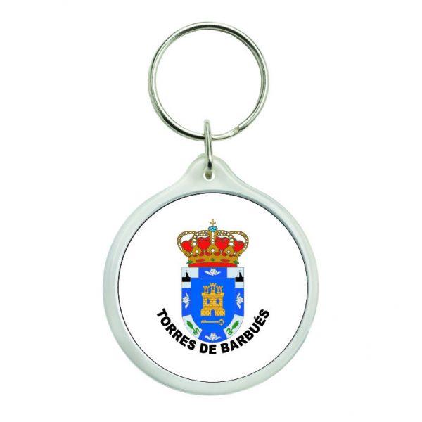 llavero redondo escudo heraldico torres de barbues