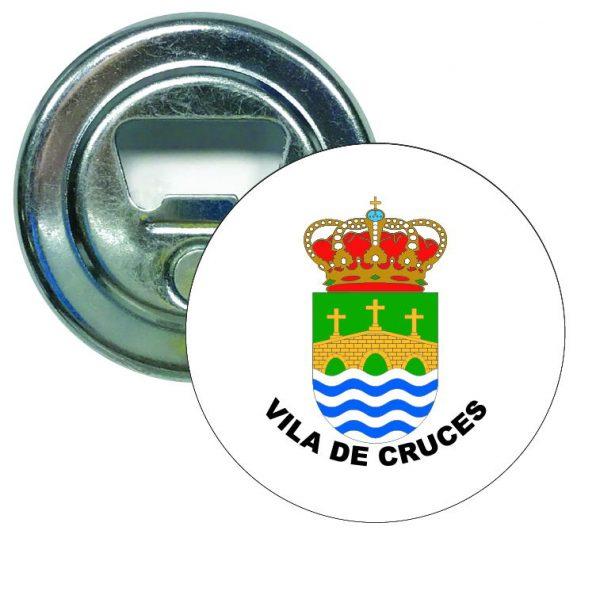 abridor redondo escudo heraldico vila de cruces