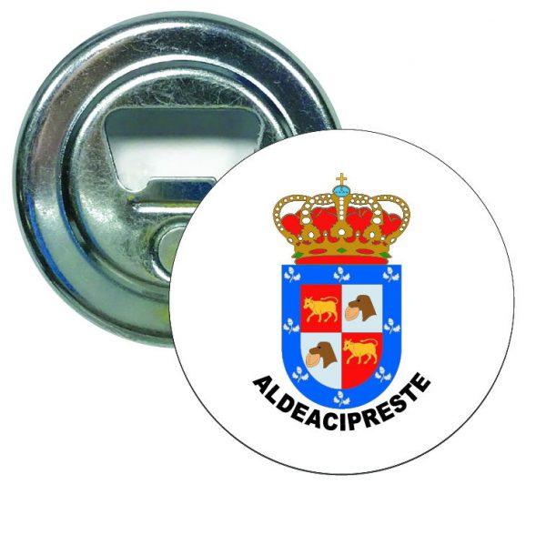 abridor redondo escudo heraldico aldeacipreste