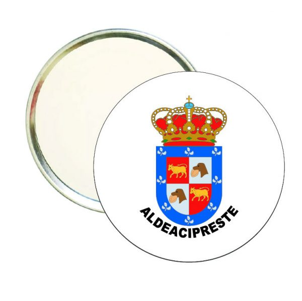 espejo redondo escudo heraldico aldeacipreste