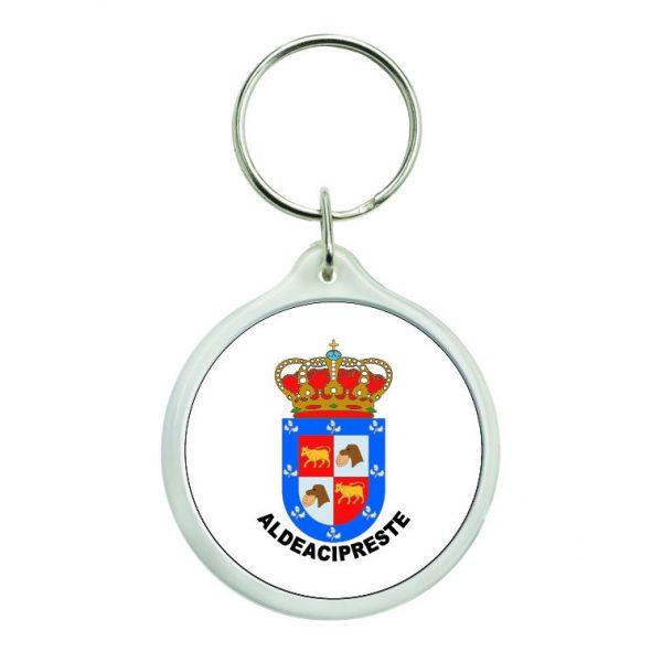 llavero redondo escudo heraldico aldeacipreste