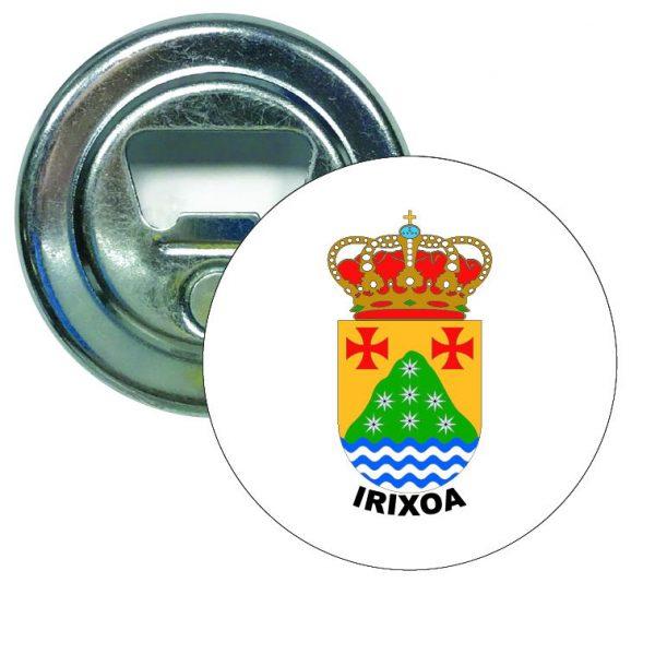 abridor redondo escudo heraldico irixoa