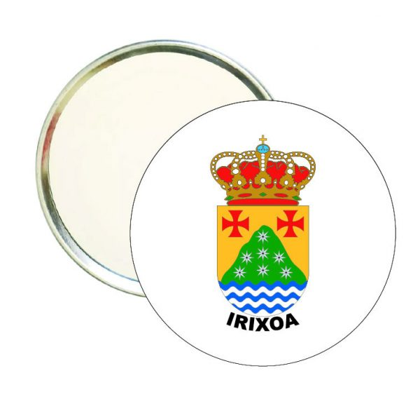 espejo redondo escudo heraldico irixoa