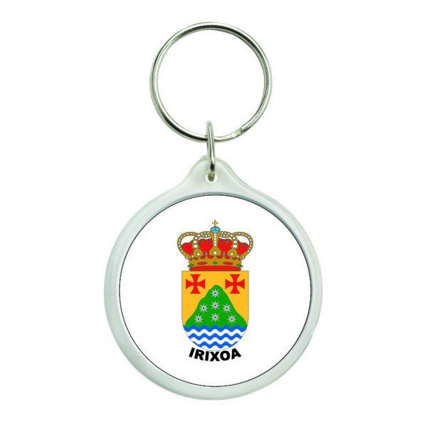 llavero redondo escudo heraldico irixoa