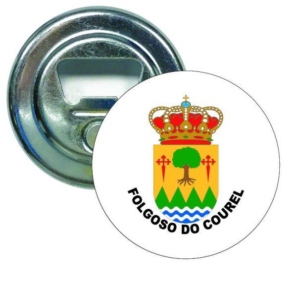 abridor redondo escudo heraldico folgoso do courel