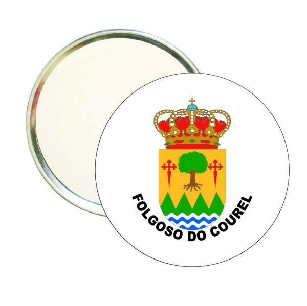 espejo redondo escudo heraldico folgoso do courel