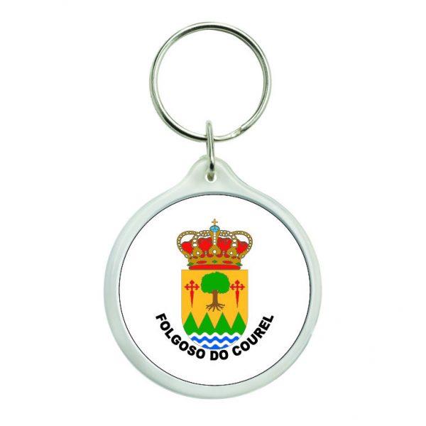 llavero redondo escudo heraldico folgoso do courel