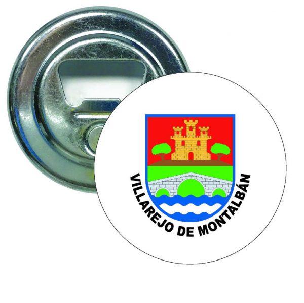 abridor redondo escudo heraldico villarejo de montalban