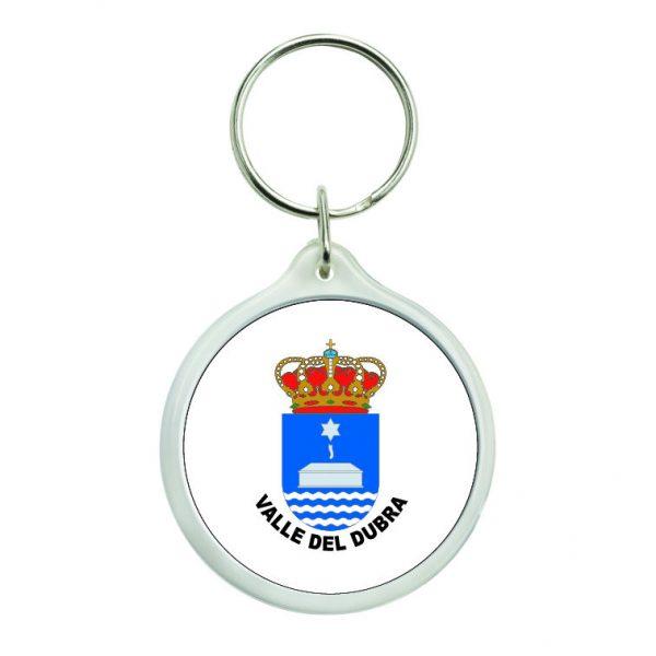 llavero redondo escudo heraldico valle del dubra