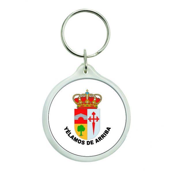 llavero redondo escudo heraldico yelamos de arriba