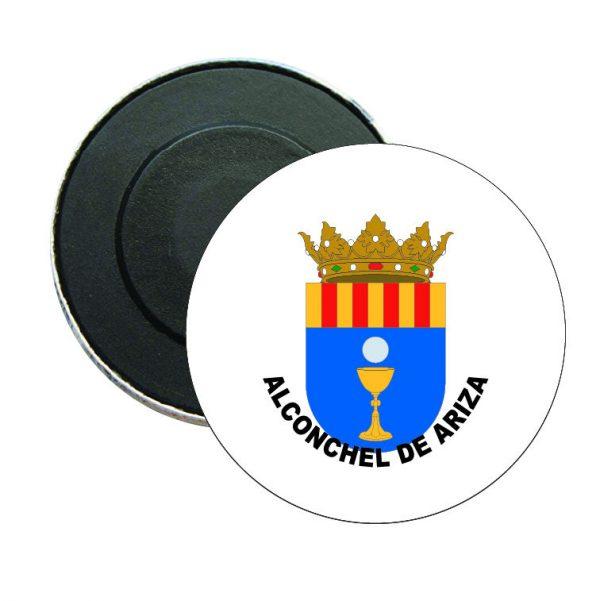 iman redondo escudo heraldico alconchel de ariza