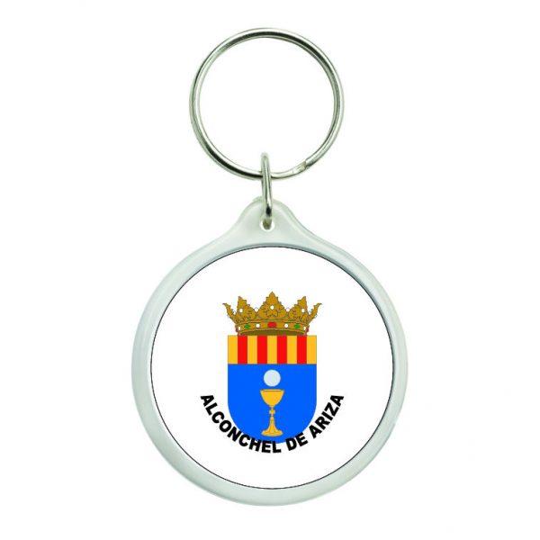 llavero redondo escudo heraldico alconchel de ariza