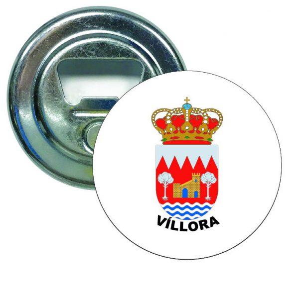 abridor redondo escudo heraldico villora