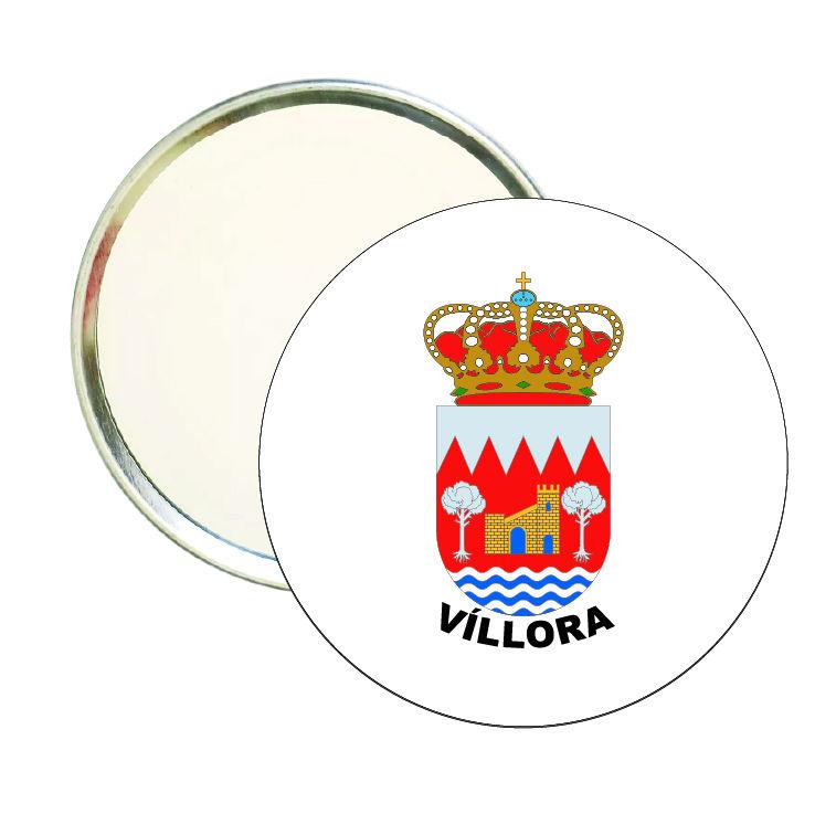 espejo redondo escudo heraldico villora