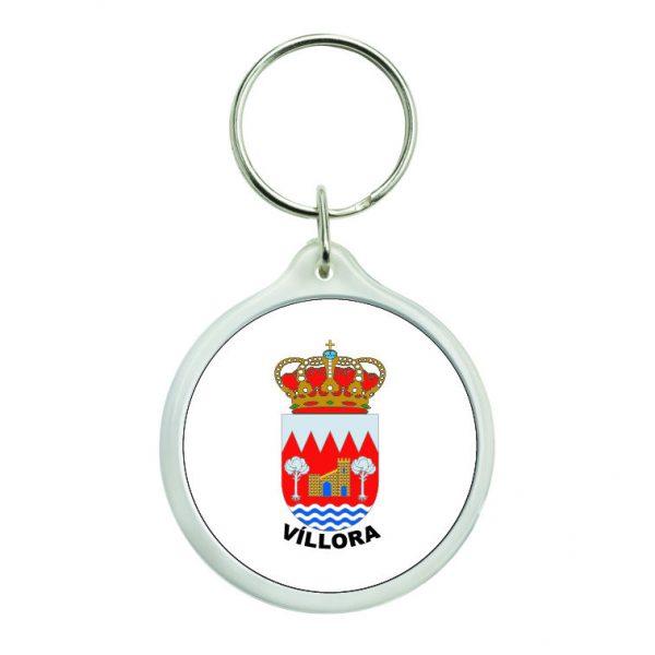llavero redondo escudo heraldico villora