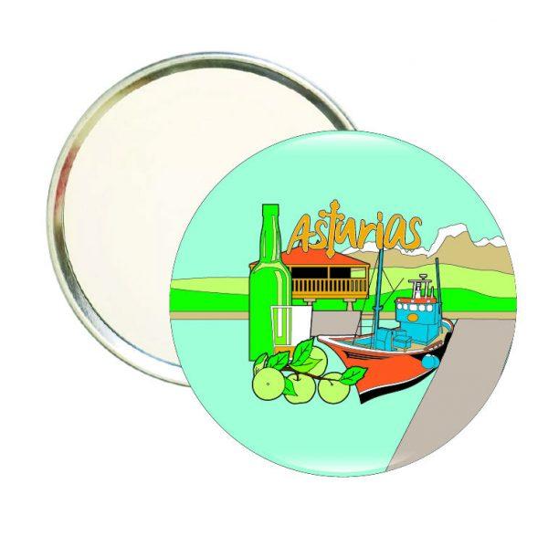 736 espejo redondo asturias sidra bote
