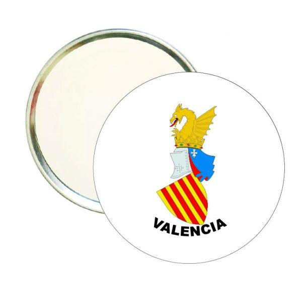 espejo redondo escudo heraldico valencia