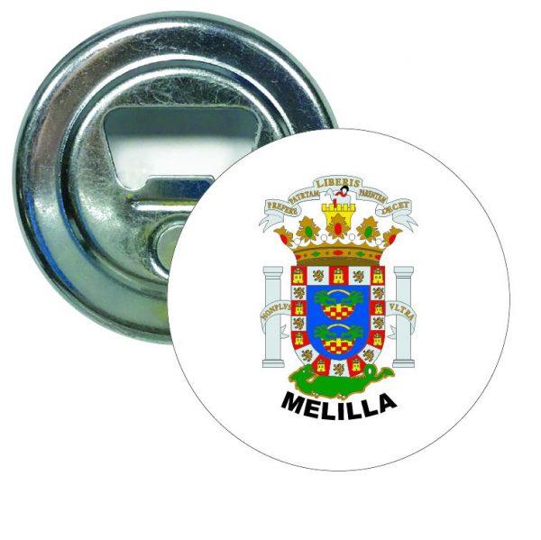 abridor redondo escudo heraldico melilla