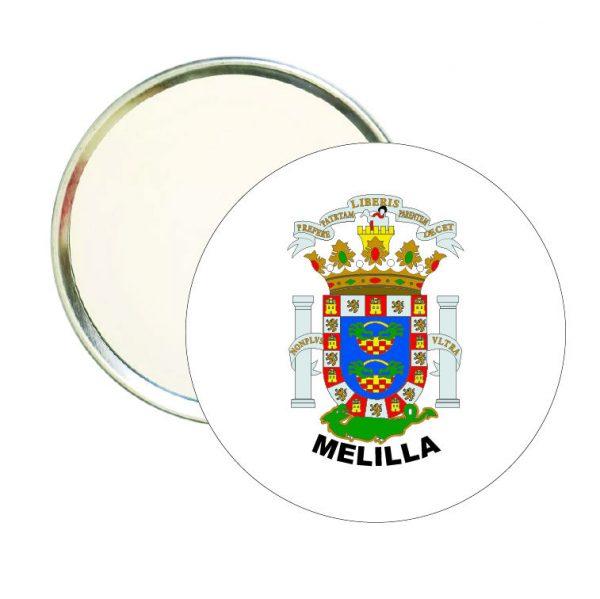 espejo redondo escudo heraldico melilla