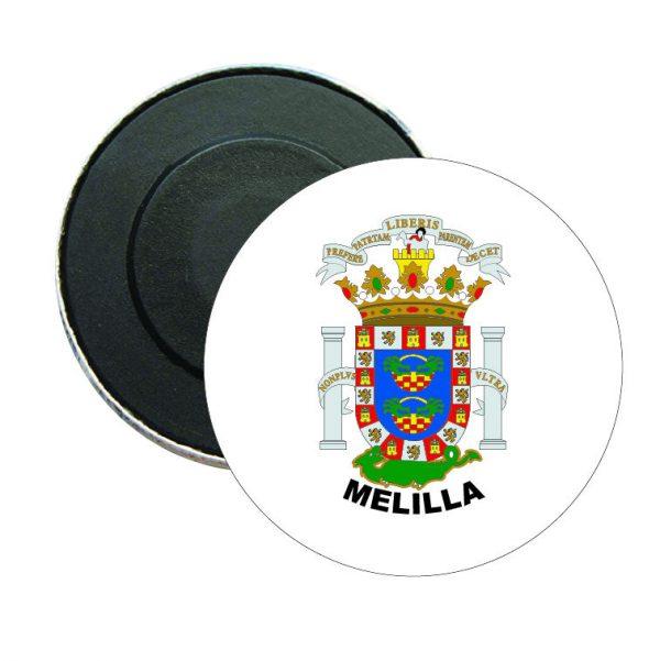 iman redondo escudo heraldico melilla