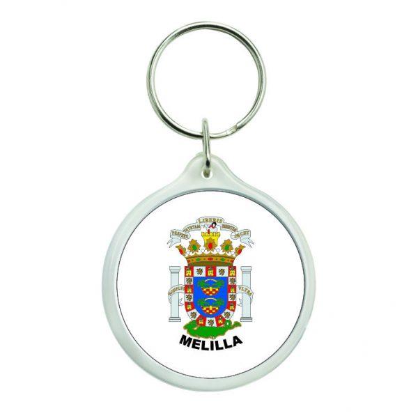 llavero redondo escudo heraldico melilla