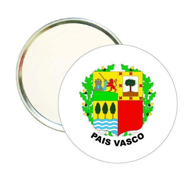 espejo redondo escudo heraldico pais vasco