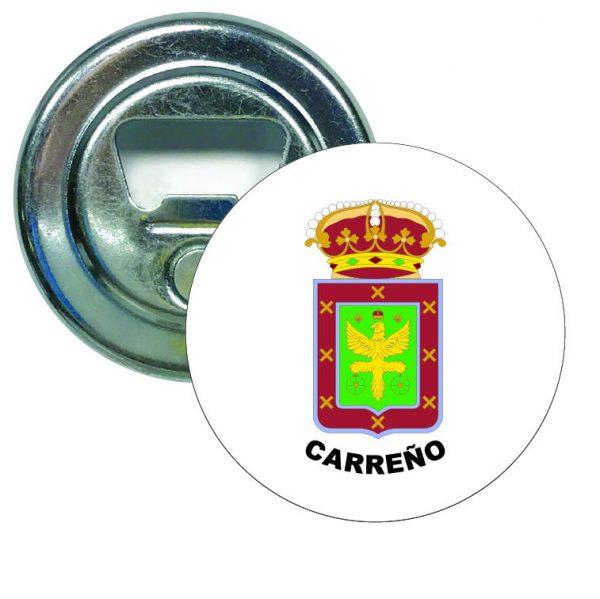 abridor redondo escudo heraldico carreno