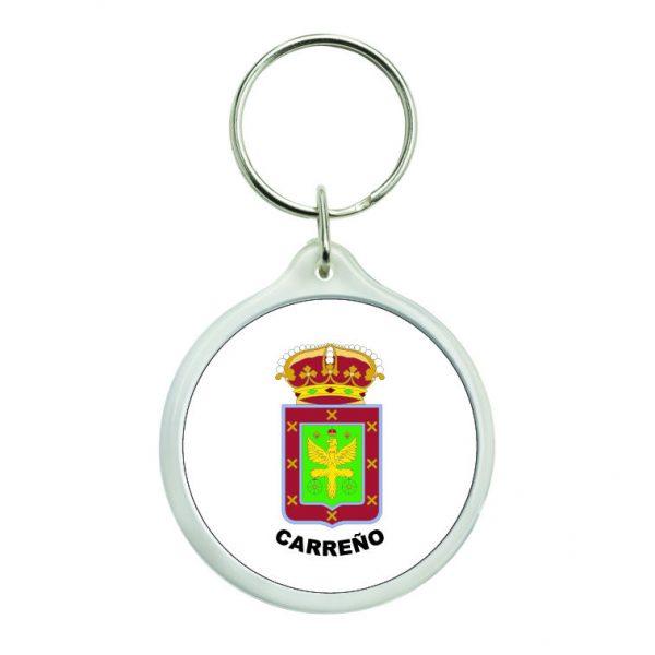 llavero redondo escudo heraldico carreno
