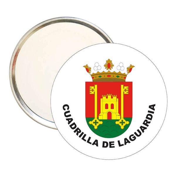 espejo redondo escudo heraldico cuadrilla de laguardia