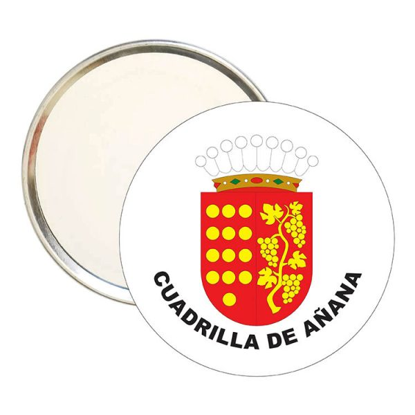 espejo redondo escudo heraldico cuadrilla de anana
