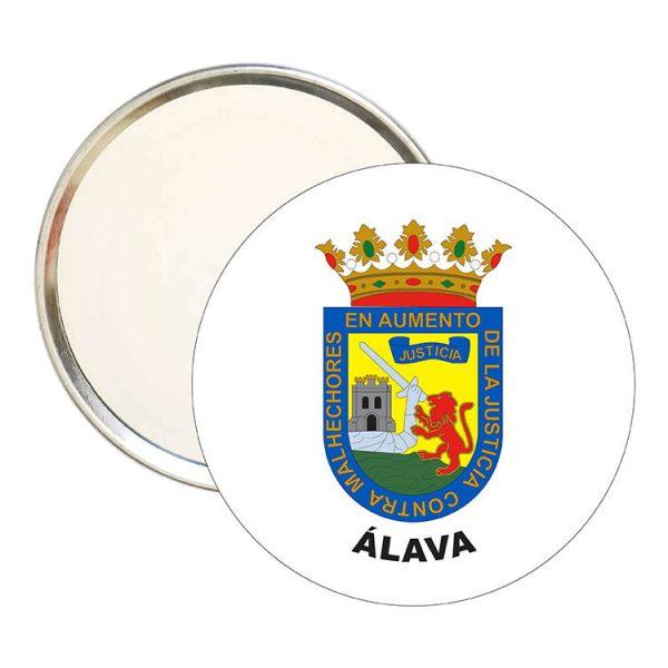 espejo redondo escudo heraldico alava