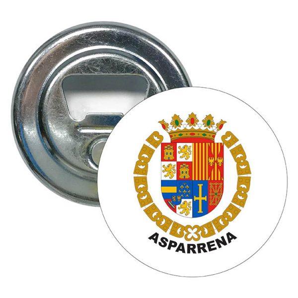 abridor redondo escudo heraldico asparrena