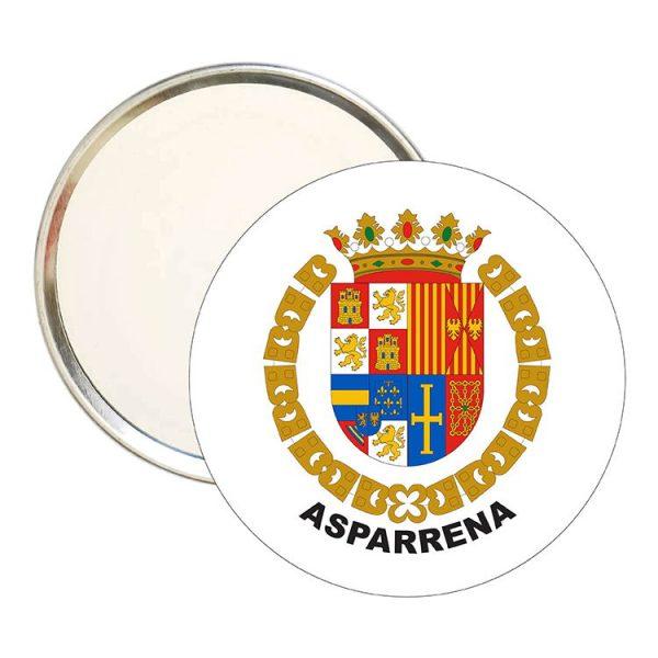 espejo redondo escudo heraldico asparrena